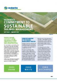 Vedanta's commitment to sustainable tailings management